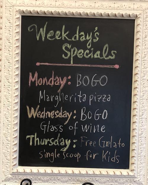 Napoli 1 Pizza Specials