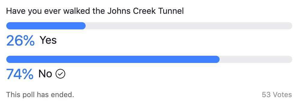 Johns Creek Tunnel Poll-
