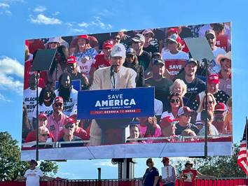 VoterGA's Garland Favorito Speaks At Save America Rally In Perry, GA